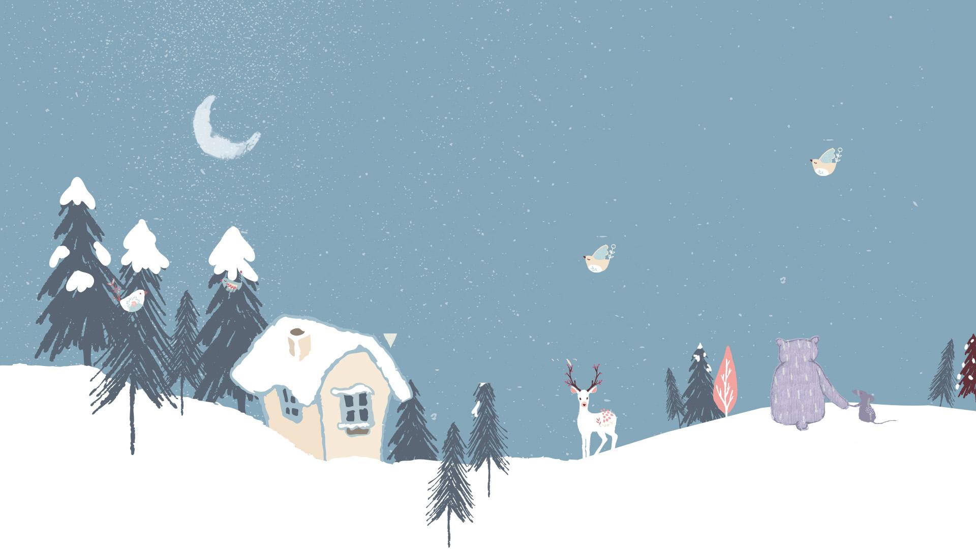 Обои Зима Минимализм